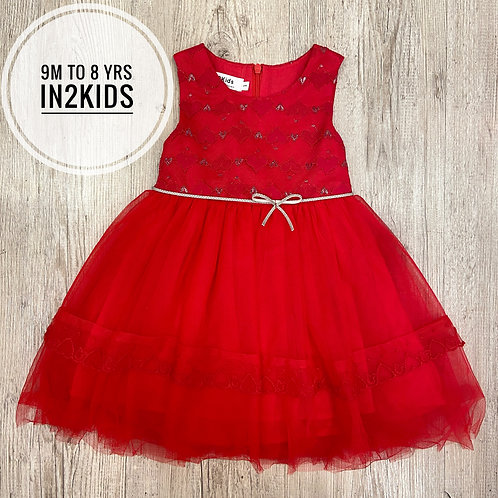 Classic Red Princess Dress