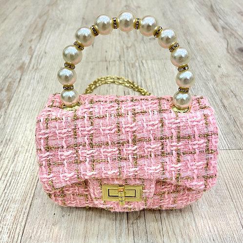 Mini Tweed Bag in Pink