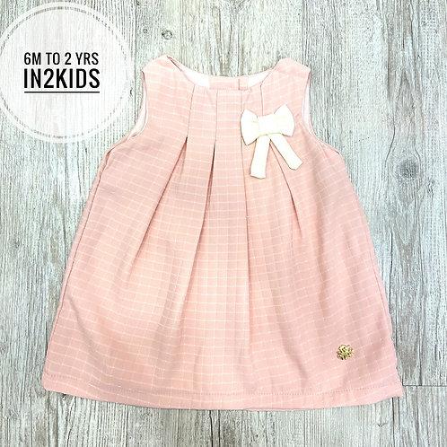 Pink Classy Checks Baby Girl Dress