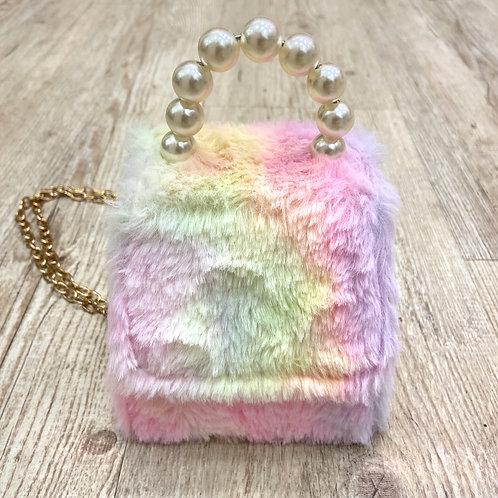 Mini Rainbow Furry Bag