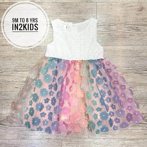 Rainbow Petals Princess Dress