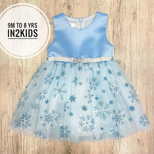 Frozen Themed Snowflake Princess Dress