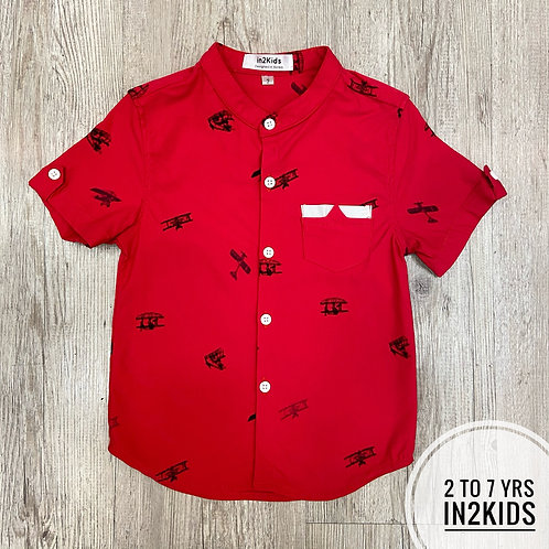 Planes & 'copters Round Collar Shirt