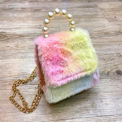 Rainbow Furry Bag