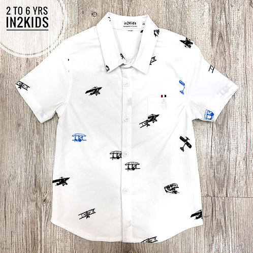 Planes & 'copters Shirt in White