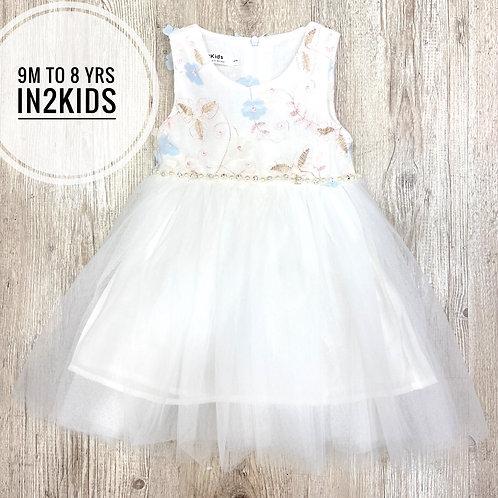 White Embroidery Princess Dress