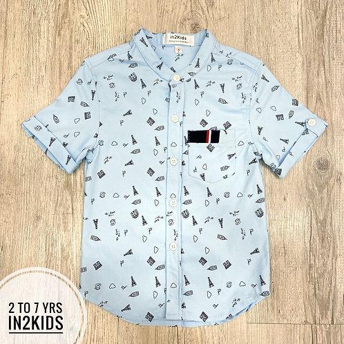 Caspian Printed Round Collar Shirt