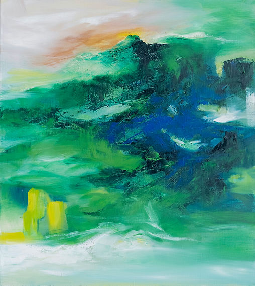Emerald Mountain, 100 x 91, Oil on Canvas, 2021