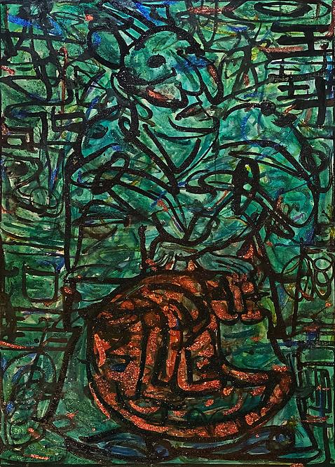 善之門-左  Blessed Gate Diptych- Left