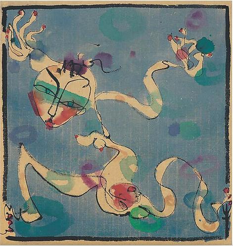 藍色漫步者 二聯畫-A  Blue Walker Diptych-A