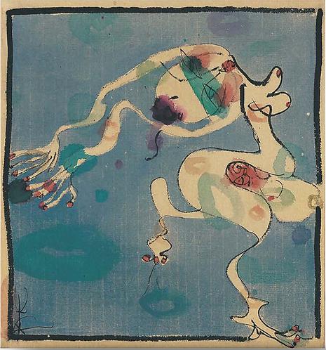 藍色漫步者 二聯畫-B  Blue Walker Diptych-B