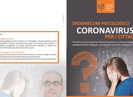 ECCO COME COMBATTERE IL PANICO DA CORONAVIRUS COVID-19 DALL'ORDINE NAZIONALE PSICOLOGI OPL