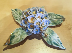Blue small flowers with gold