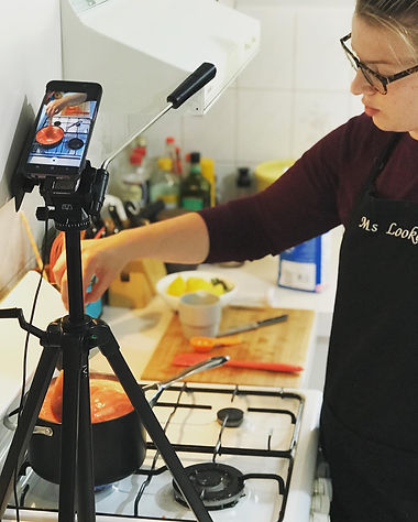 Ms Barker's Instagram Live cooking class for Sunshine College students during remote learning in 2020.