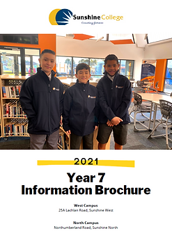Year 7 Info Brochure 2021 cover.PNG