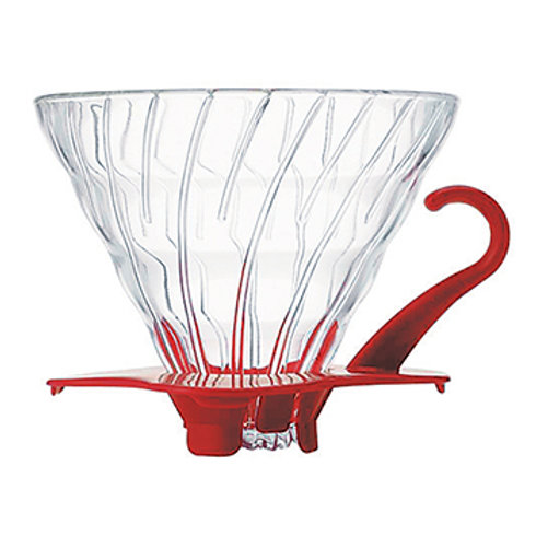 Suporte para Filtro de Café V60-02 Vidro Vermelho – Hario