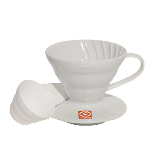 Suporte para Filtro de Café V60-01 Cerâmica Branco – Hario