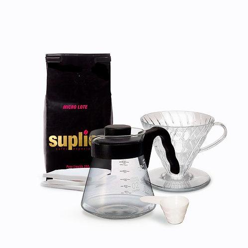 Combo Start- Kit Hario V60 02 + Microlote Suplicy Cafés Especiais 250 gr