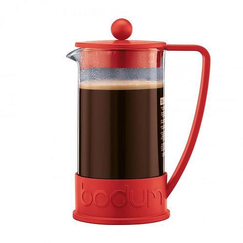 Prensa Francesa Bodum Vermelha p/ Prep. Chá/ Café 1L