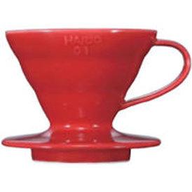 Coador Hario V60 Acrílico Vermelho Tamanho 01