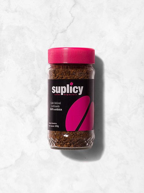 Café Solúvel Liofilizado Suplicy Vidro de 100grs