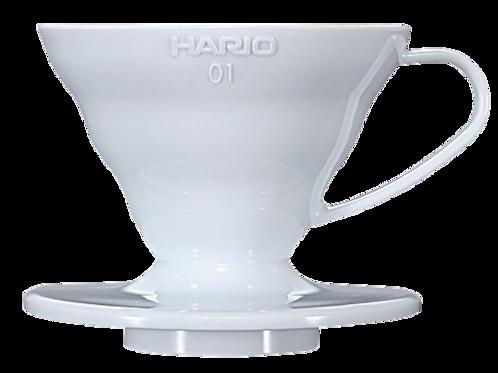 Suporte em acrílico branco para Filtro de café Hario V60 -01