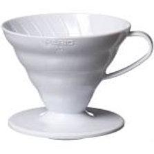 Suporte em acrílico branco para Filtro de café Hario V60 -02