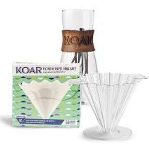 KIT Koar _ Decanter +Coador de acrílico + Filtro de Papel