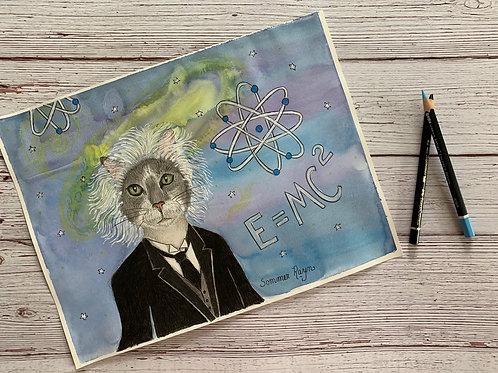 Albert Einstein as a cat
