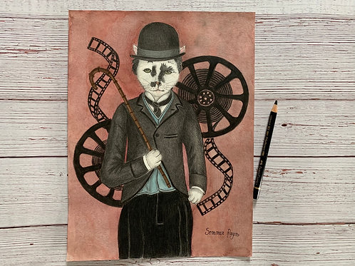Charlie Chaplin old time movie star