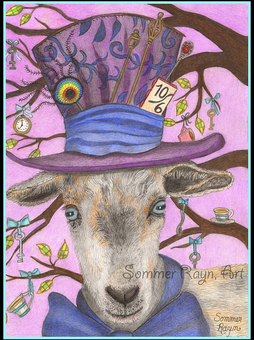 Toby the Goat who loves the Mad Hatter