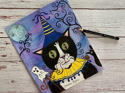 Halloween Tuxedo Party Kitty
