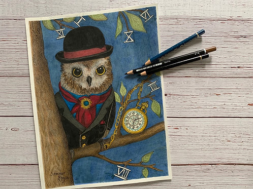 Old fashioned gentleman owl