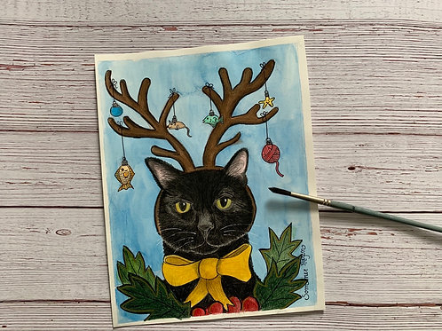Prongs the adorable holiday cat