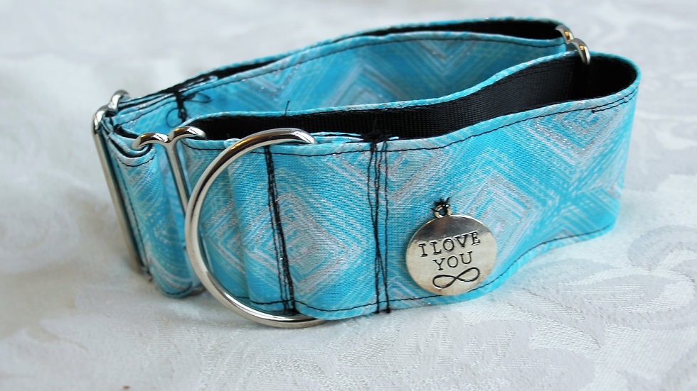 """I love you""2 inch Martingale collar Medium (Borzoi size)"