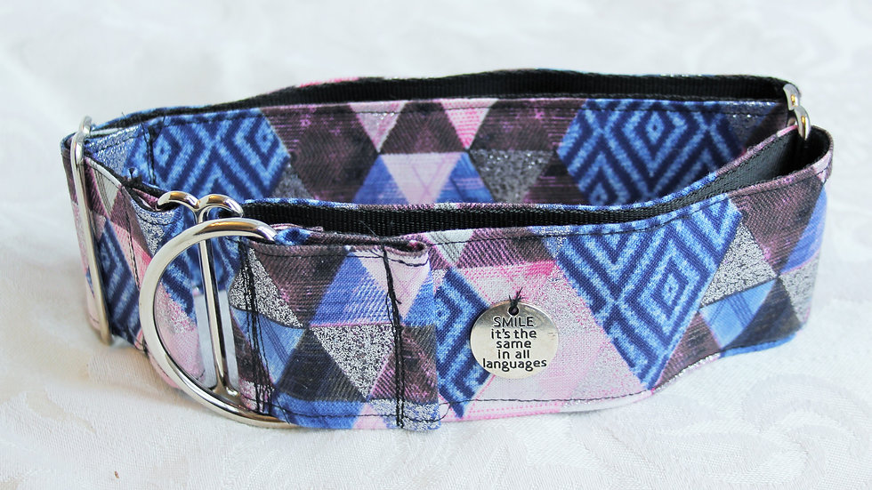 """Smile is the same in all...""2 inch Martingale collar Medium (Borzoi size)"