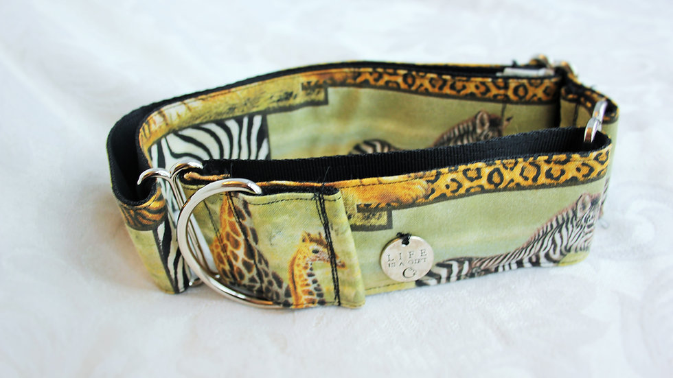 """Life is a gift""2 inch Martingale collar Large (Borzoi or bigger size)"