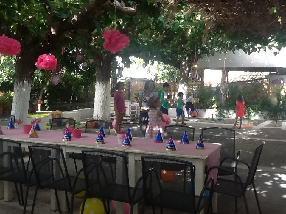 birthday party at our courtyard