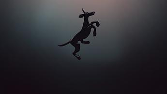 Dog swimming under water