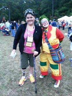 Becca & clown