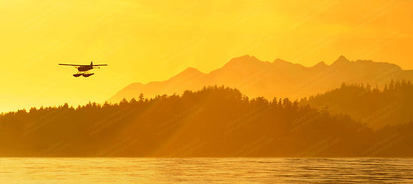 """Float Plane Sunset"" Photographic Print"