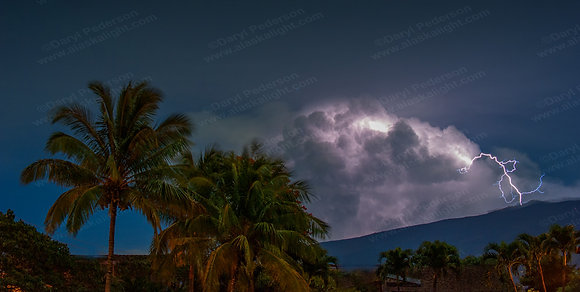 """Tropical Lightning'"" MetalPrint"