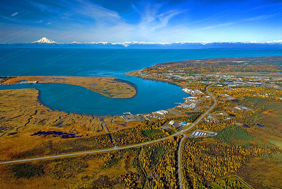 """Kenai Fall Aerial"" Photographic Print"