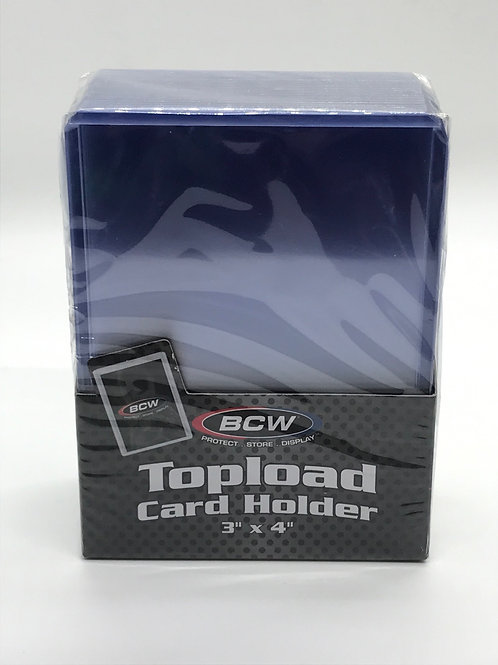 BCW Standard 3x4 Trading Card Holders 20pt Rigid Toploaders -25 Count