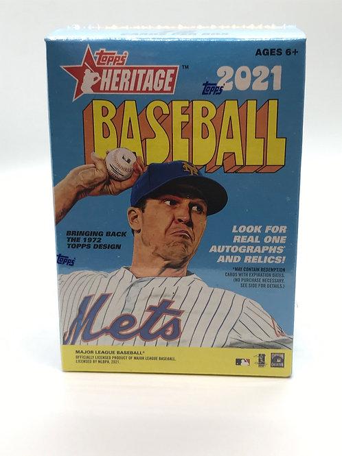 Topps Heritage 2021 MLB Baseball Factory Sealed Blaster Box
