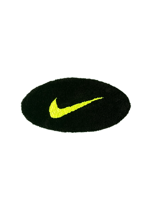 Small Swoosh - Black x Neon Yellow