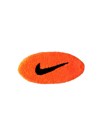 Small Swoosh - Neon Orange x Black
