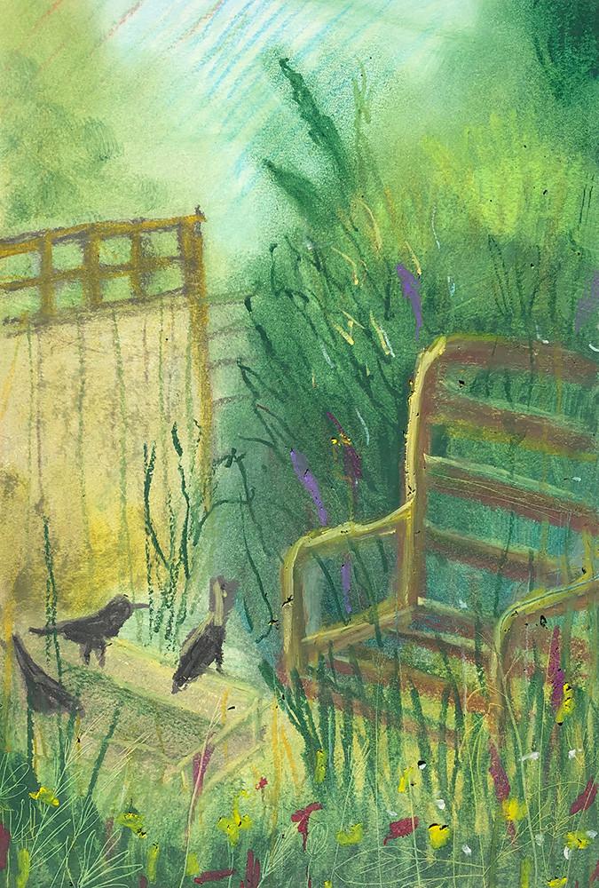 Oil_Pastel_Valery's Garden.jpg