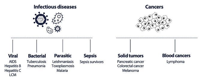 A frequent feature in infections & cance