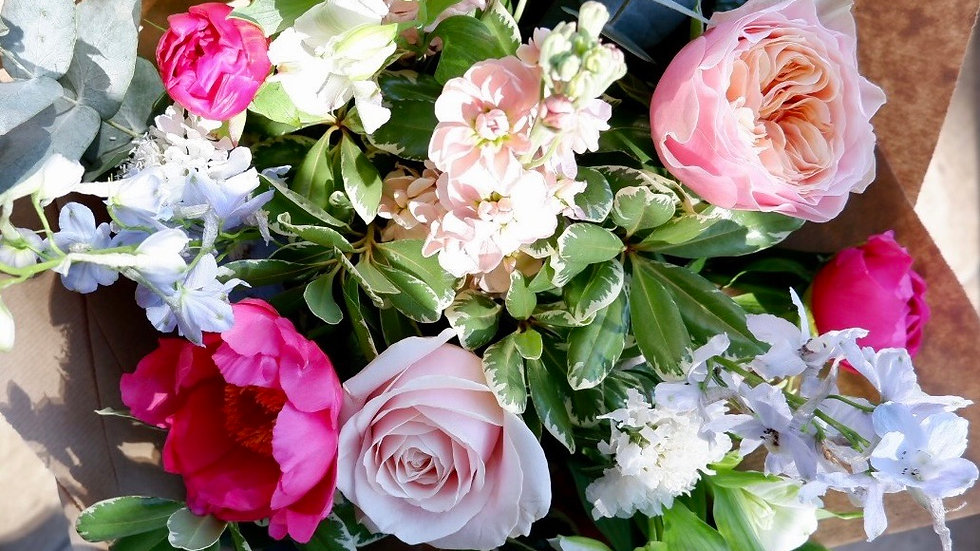 Bouquet of the Month - May - Peonies and Pastels